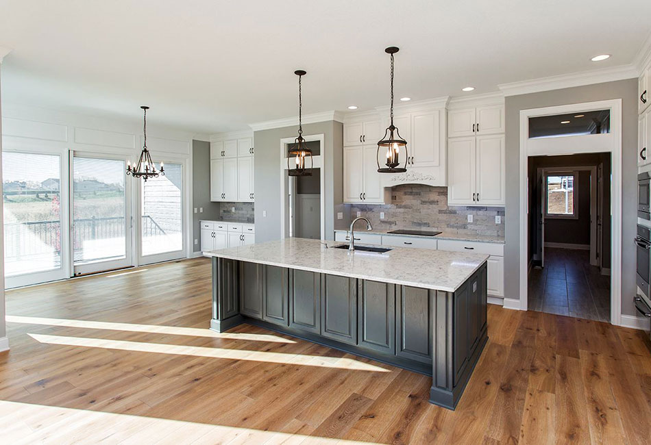 Moehl Millwork provided countertops, exterior doors, and Bertch cabinets for this kitchen project.