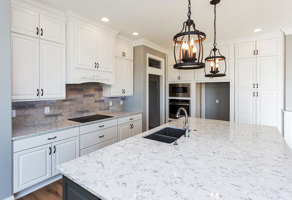 Moehl Millwork provided countertops and Bertch cabinets for this project.